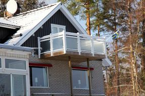 Bygglov balkong villa